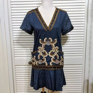 French Connection Embellished Tunic Dress